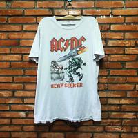 Vintage AC-DC 1988 White T-Shirt Men's Size S-M-L-XL-2XL AA534