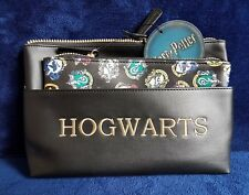 Harry Potter Hogwarts Cosmetics Wash Make up Bag Set - 2 bags Primark BNWT