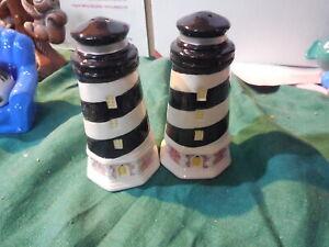 """Salt And Pepper Shakers Light Houses  Ceramic4"""""""
