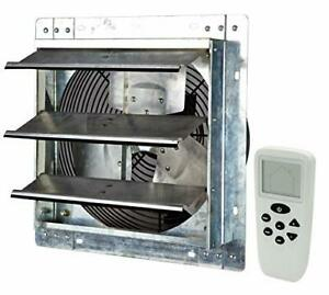 """ILG8SF12VC - 12"""" Wall Mounted Smart Remote Shutter Exhaust Fan - Thermostat H..."""