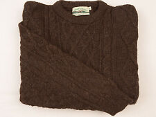 ARAN CRAFTS IRELAND Mens Jumper XLarge Wool CHUNKY Cable knit sweater Fisherman