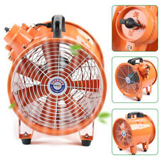 110v Explosion Proof Axial Fan Cylinder Pipe Spray Booth Paint Fumes Exhaust Fan