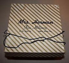 Vintage Wilkes Barre, Pa Mrs. Herman Fine Millinery Hat Box