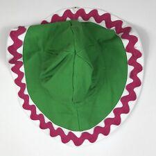 New Gymboree Girls Green Pink Rick Rack Brimmed Sun Hat Bonnet Size 5-7, Nwt