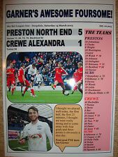 Preston North End 5 Crewe Alexandra 1 - 2015 - souvenir print