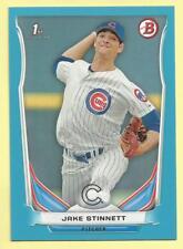 2014 Bowman Draft Baseball Jake Stinnett Blue Paper Parallel Cubs 025/399