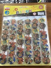 10 x TOY STORY  PIN BADGES Party Bag Fillers Birthday party favours, games