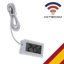 ACTECOM® Termómetro Digital Acuario Pecera Terrario LCD con Sonda