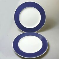 2 x Rosenthal Form 200 ABC Teller Essteller blauer Rand Baumann Entw.