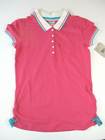 LEVI'S Shirt Sz L Large 12-13 yrs Girls Pink Collared Polo Retro Style Top NWT