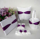 Wedding Guest Book and Pen Set ,Ring Bearer Pillow,Flower Girl Basket,Garter Set