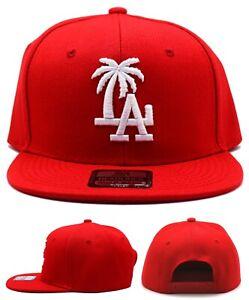 Los Angeles New Leader Palm LA Headlines Dodgers Red White Era Snapback Hat Cap