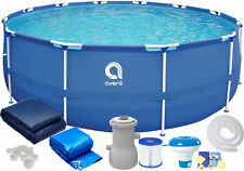 16in1 Best SWIMMING POOL 366cm 12FT Garden Round Frame Ground Pool + PUMP SET