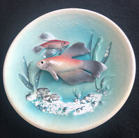 Vintage Napcoware 3D Siamese Fish Betta Tropical Napco Japan C5846 Plate Dish