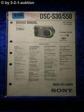 Sony Service Manual Dsc S30/S50 Level 1 Digital Still Camera (#6186)