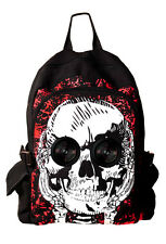 Banned SKULL Speaker Backpack IPOD MP3 Iphone Smartphone School Bag Waterproof