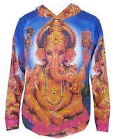 kc13 L Yoga Hoodie Ganesh Hindu Zen Om SHIWA India Yoga Buddha Ganesha peace Art