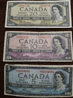 Devils face 1954 canadian paper money rare