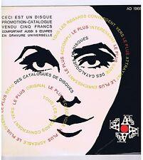 LP CATALOGUE PROMO DISQUE ADES 1968 G.AMY D.ERLIH J.FEVRIER L.JOUVET S.REGGIANI