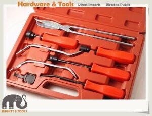 8pcs Brake Repairing Tool: Drum Brake Shoe Return Spring Removal Pliers Spoon