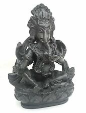 ELEPHANT DEITY GANESH / GANESHA BUDDHIST / HINDU DARK CAST RESIN FROM INDIA