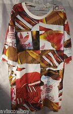 Adidas Sneaker Sole Three Stripe Print Large Firebird Logo Shirt Men's 2XL