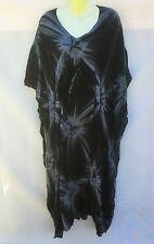 Long & Bright Tie Dye Ladies Kaftan With Tie Waist Size 16-18-20-22 FREE POST