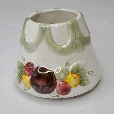 Yankee Candle Small Jar Shade  w/ Swag Drape and Fruit Iridescent Finish