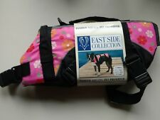 New  X-S Pink With Flowers Dog Life Jacket Preserver
