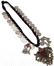 Handmade Vintage Afghan Old Boho Metal Beads Banjara Tribal Gypsy Coin Necklace