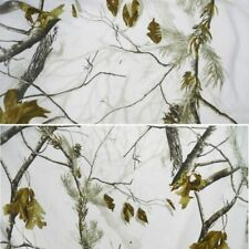 1.5M Width Snow White Military Camouflage Camo Fabric Clothing Outdoor Hunting