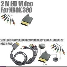Premium Component Audio Video AV HD TV OUT Cable For Microsoft Xbox 360 A V
