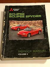 1999 Mitsubishi Eclipse Eclipse Spyder Service Factory Manual Volume 2