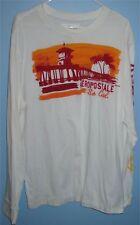 Men's 2XL Aeropostale So Cal Longsleeve Cotton Crew T Shirt Dock White