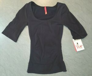 Spanx On Top and in Control Elbow Length Scoop Neck Top, Black UK Size Small