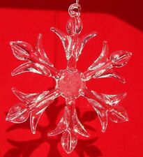 Clear Glass SNOWFLAKES - Lot of 6 Christmas Ornaments