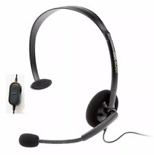 %100 GENUINE MICROSOFT XBOX 360 WIRED CHAT HEADPHONES HEADSET W/ BOOM MIC