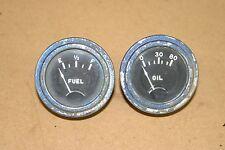 "STEWART WARNER SW FUEL GAS & OIL GAUGE COFFIN NEEDLE 2 1/8"" HOT RAT ROD"