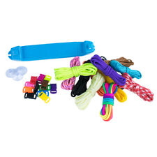Diy Plastic Jig & Bracelet Loom Kit for Tight Braids & Weaves w/ Cord & Buckles