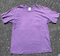 GAP 90s VTG Pocket Made USA L Blank T Shirt Distressed Sun Faded Thrashed Grunge
