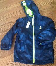 NWT Gap Kids Boys XS (4-5 Yrs) Active Wind Breaker Hooded Jacket MSRP$40