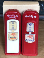 Vintage Mobilgas Pump Salt Pepper Shakers With Box Glen Ullin North Dakota Vics