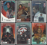 STAR WARS ROGUE ONE #1 2 3 4 5 6 SET (1st PRINT) Darth Vader Marvel 2017 NM- NM