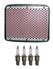 Honda CBR600F (1989 to 1990) Hiflofiltro Air Filter and Set of 4 NGK Spark Plugs