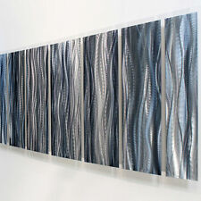 Modern Abstract Painting Metal Wall Art Sculpture Original - Ashen by Jon Allen
