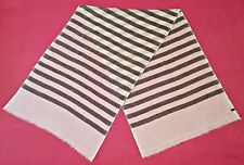 VINTAGE AUTHENTIC HAND MADE STRIPED CASHMERE LONG WOMEN'S SCARF