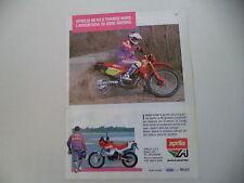 advertising Pubblicità 1989 MOTO APRILIA RX 50/TUAREG WIND