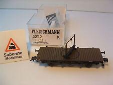 Fleischmann H0 5222K Drehschemelwagen DB OVP M546 NEUZUSTAND