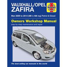 Vauxhall Opel Zafira 1.6 1.8 Petrol 1.7 1.9 Diesel 2009-14 Haynes Manual