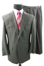 JoS A Bank Mens Charcoal Gray Wool Cashmere Full Suit Pants 41 R 34 x 29